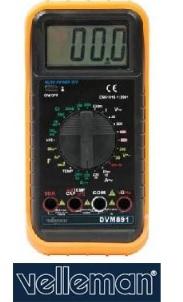 มัลติมิเตอร์ Velleman รุ่น DVM891 3 1/2 DMM-30RANGES/10A/TEMPERATURE/CAPACITANCE/FREQUENCY