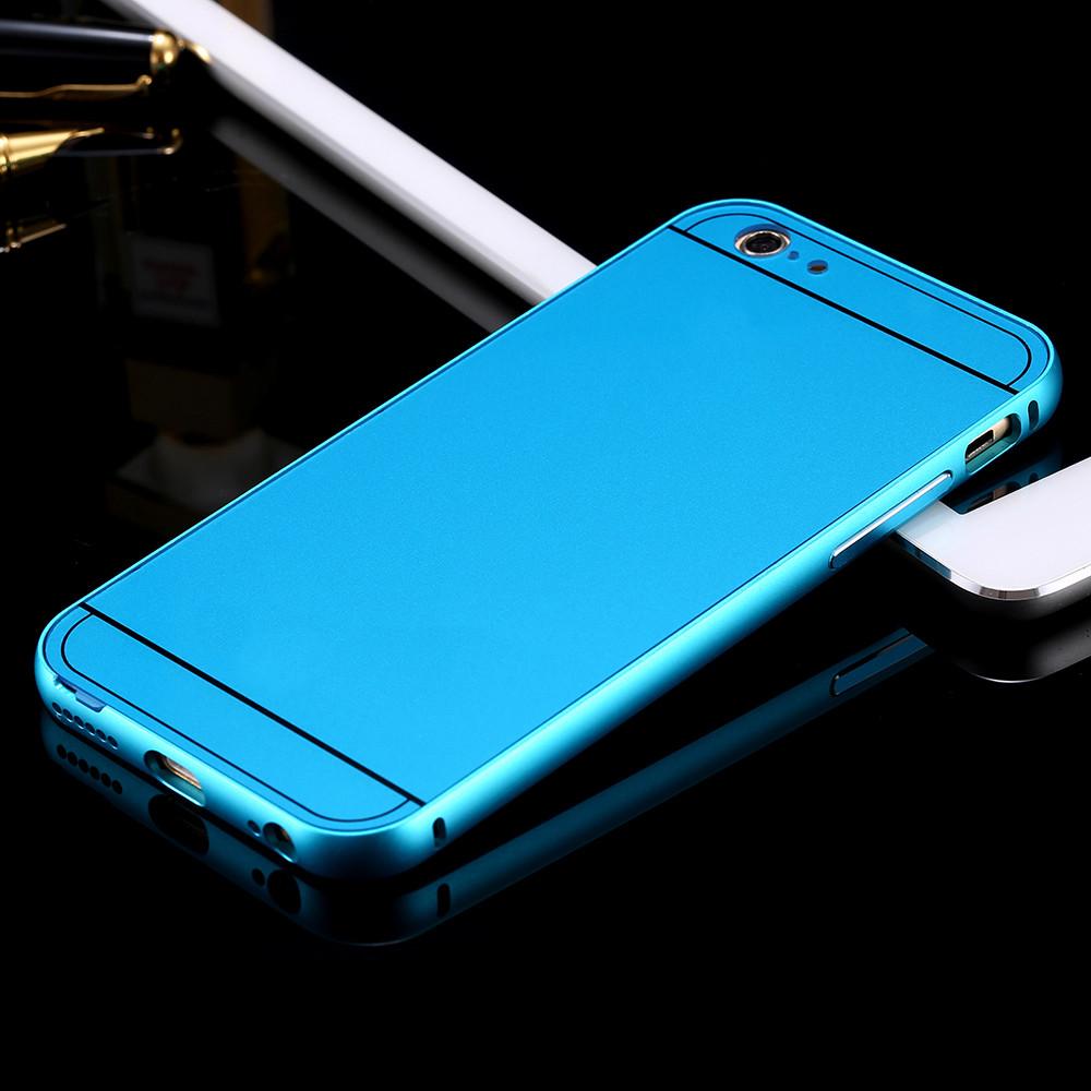 เคส iPhone 5/5s อลูมิเนียม+อะคริลิค ฝาหลัง (สีฟ้า)