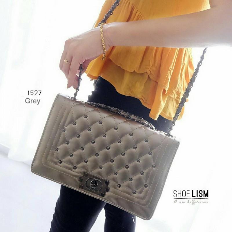 กระเป๋าสะพายแฟชั่น กระเป๋าสะพายข้างผู้หญิง LYN Reese S [สีเทา ]