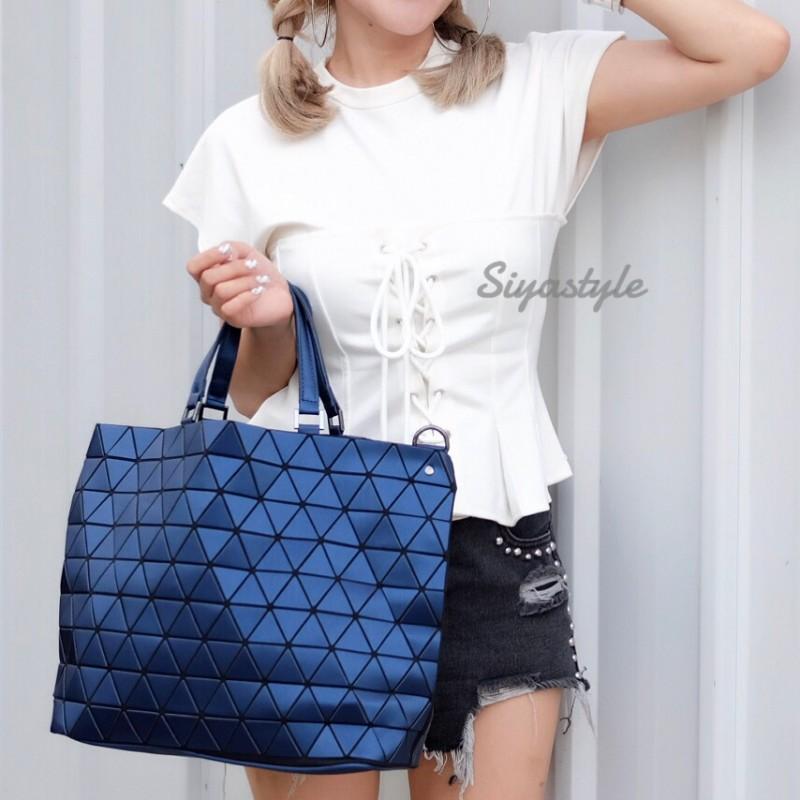 กระเป๋าสะพายแฟชั่น กระเป๋าสะพายข้างผู้หญิง Bao Bao Baral Logo เนื้อด้าน [สีน้ำเงิน ]