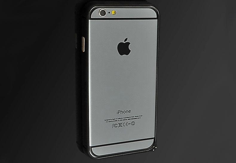 เคส iPhone6/6s บัมเปอร์ อลูมิเนียมแท้ (สีดำ)