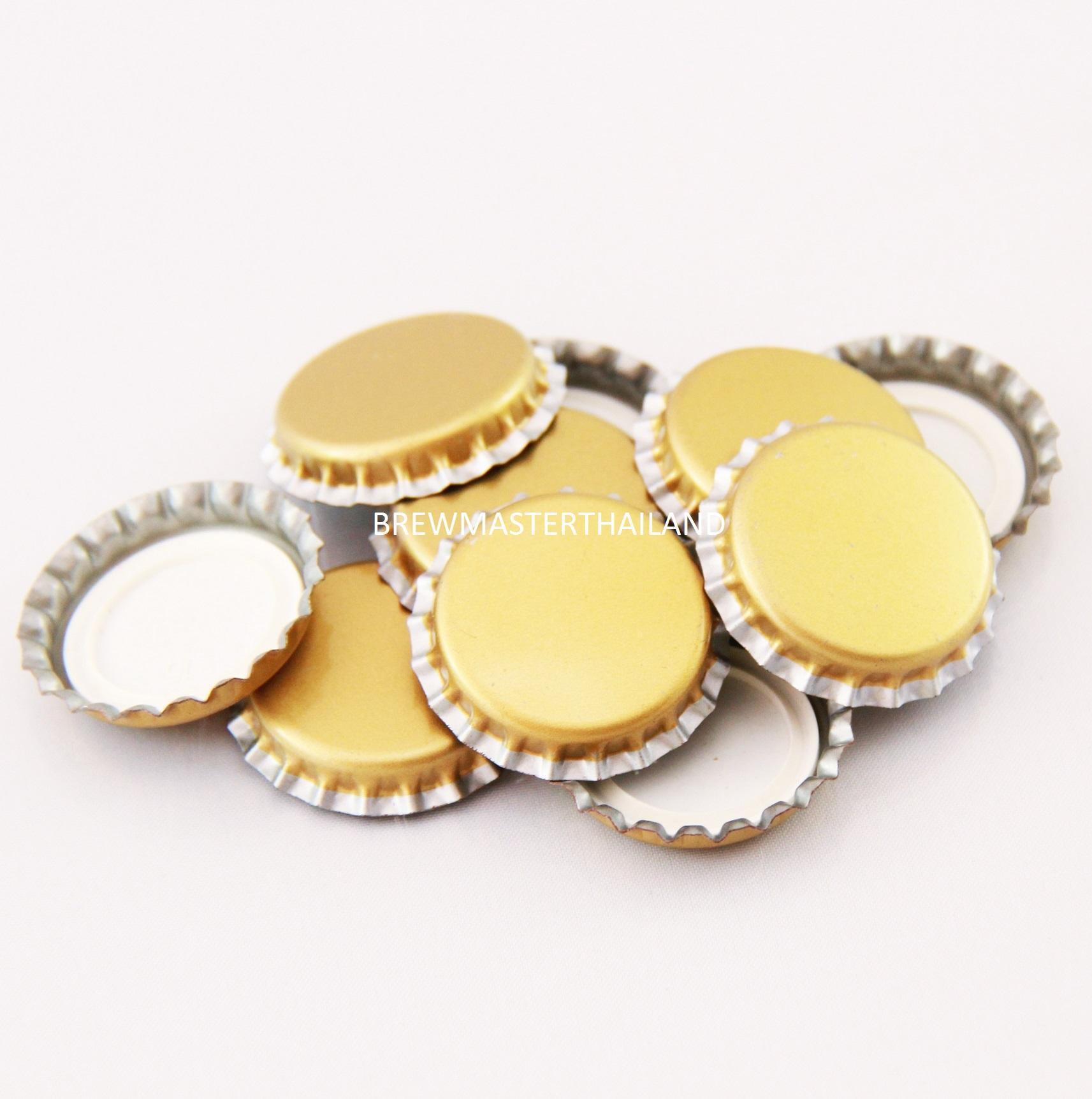 Gold Bottle caps (100 pcs)