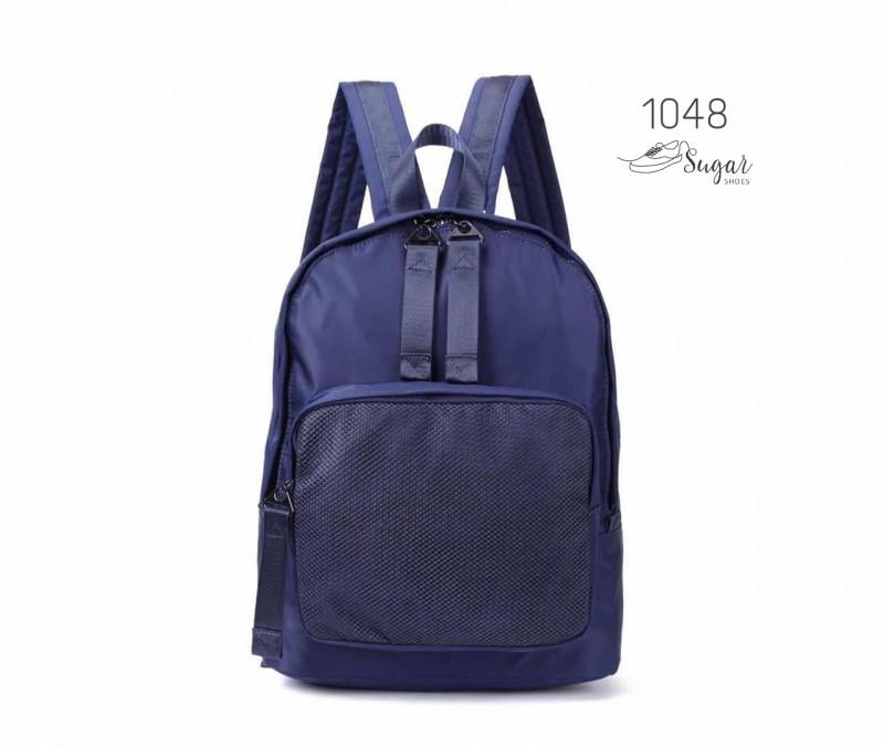 พร้อมส่ง กระเป๋าเป้ผ้าไนล่อนสไตล์ญี่ปุ่น - 1048 [สีน้ำเงิน]