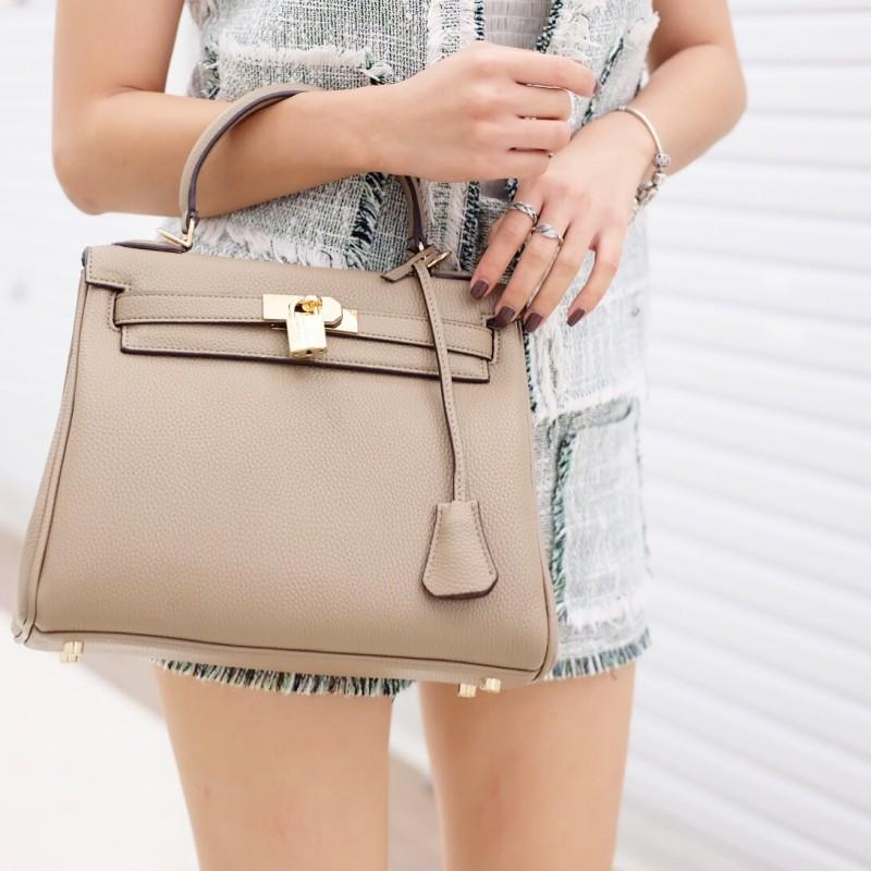 กระเป๋าสะพายแฟชั่น กระเป๋าสะพายข้างผู้หญิง หนังPU Kelly [สีน้ำตาล ]