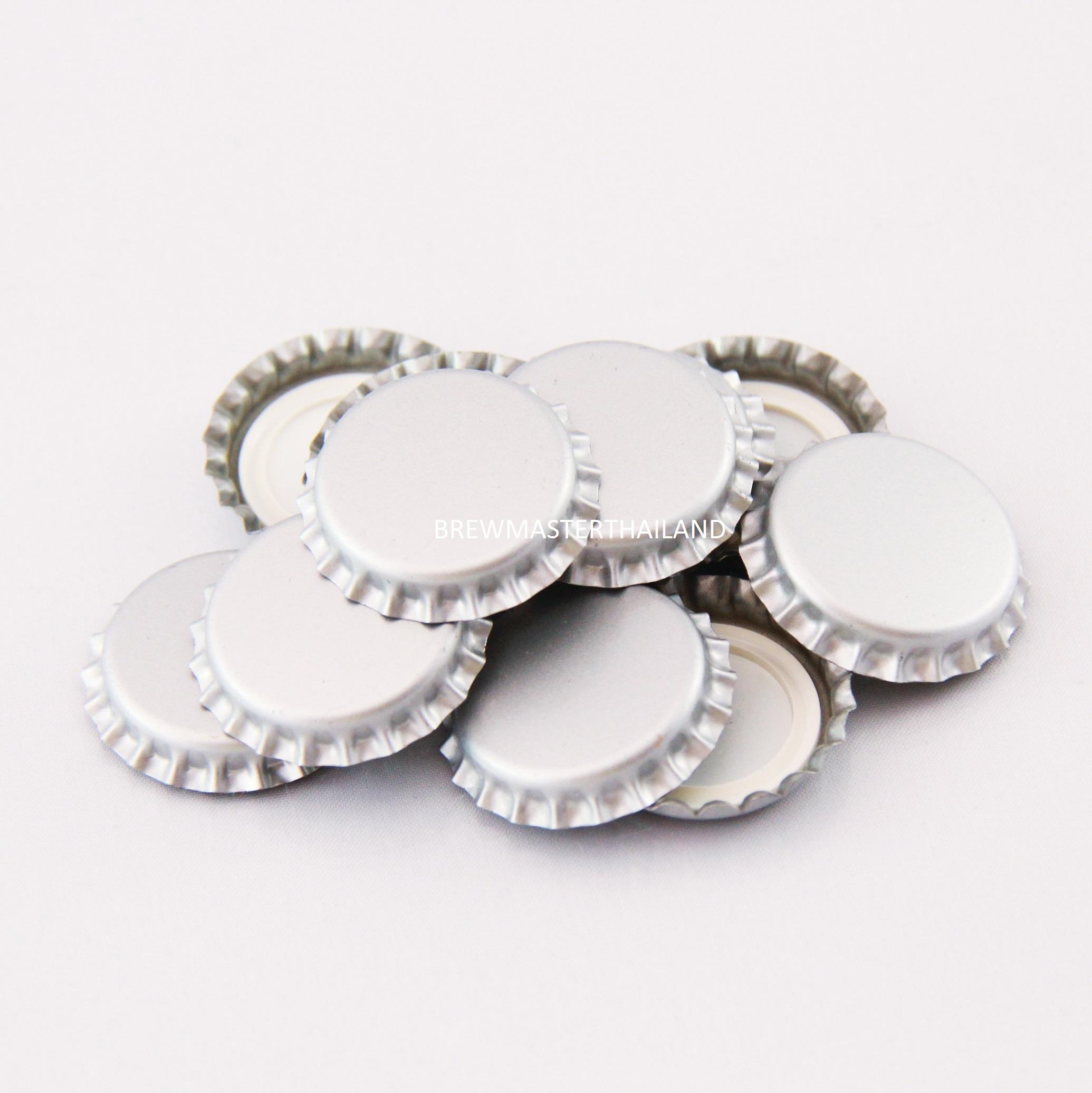 Silver Bottle caps (100 pcs)