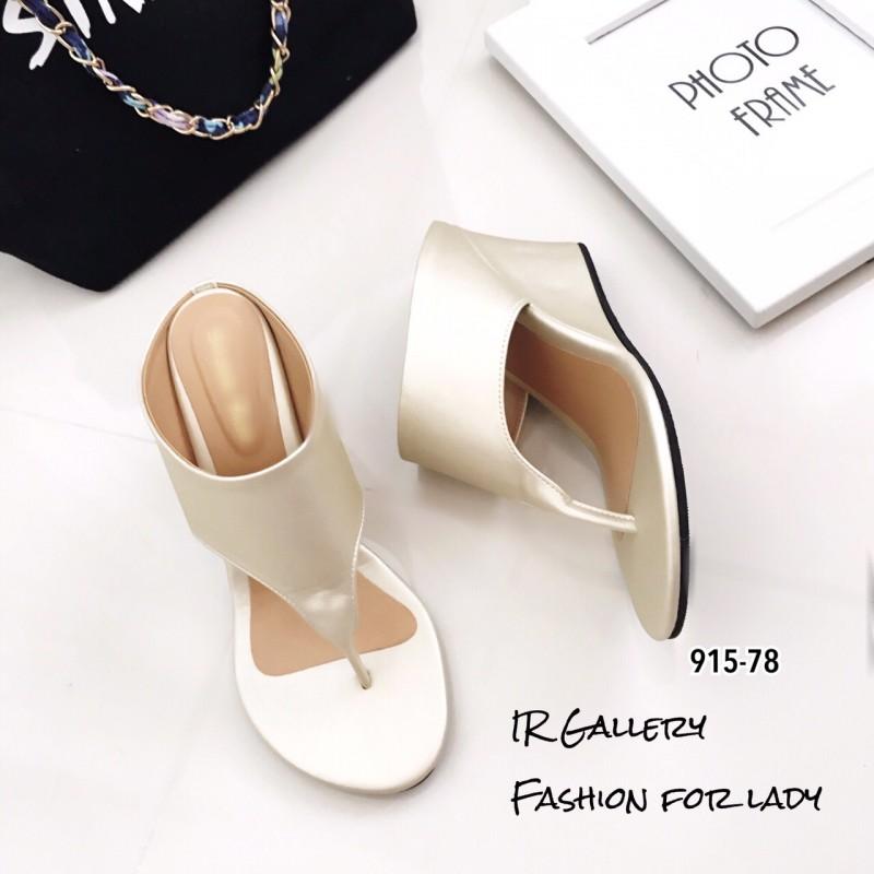 รองเท้าเตารีด แบบคีบ mcm 915-78-GLD (สีทอง)