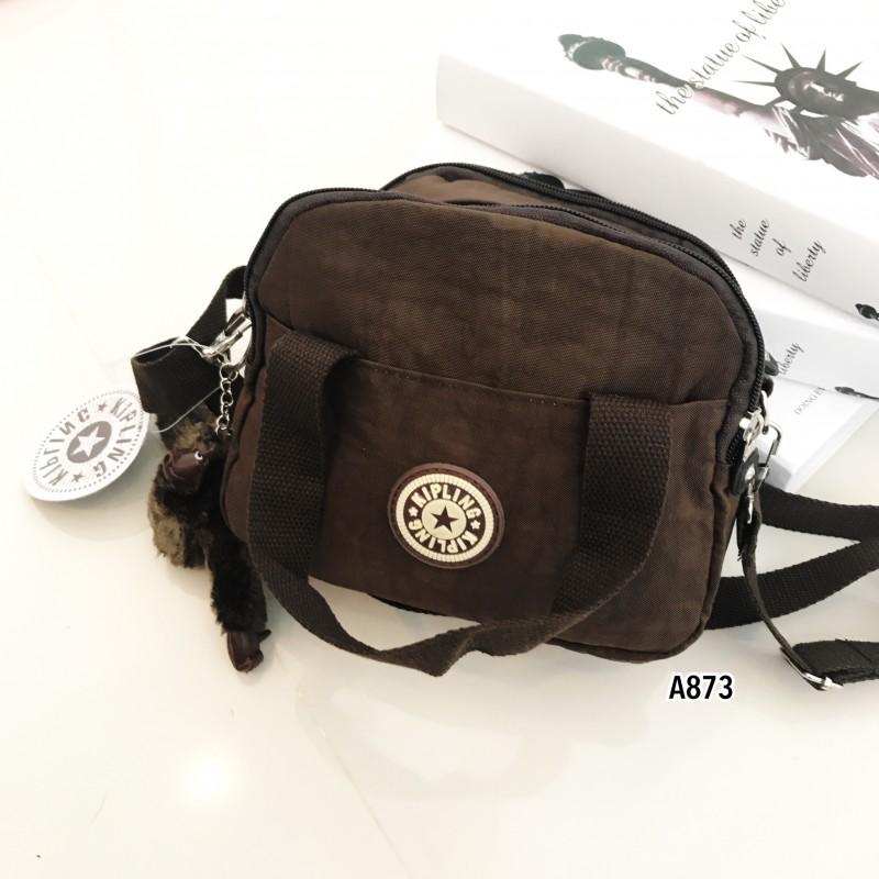 กระเป๋าสะพายข้างแฟชั่น วัสดุผ้าร่ม Style Kipling [สีน้ำตาล ]