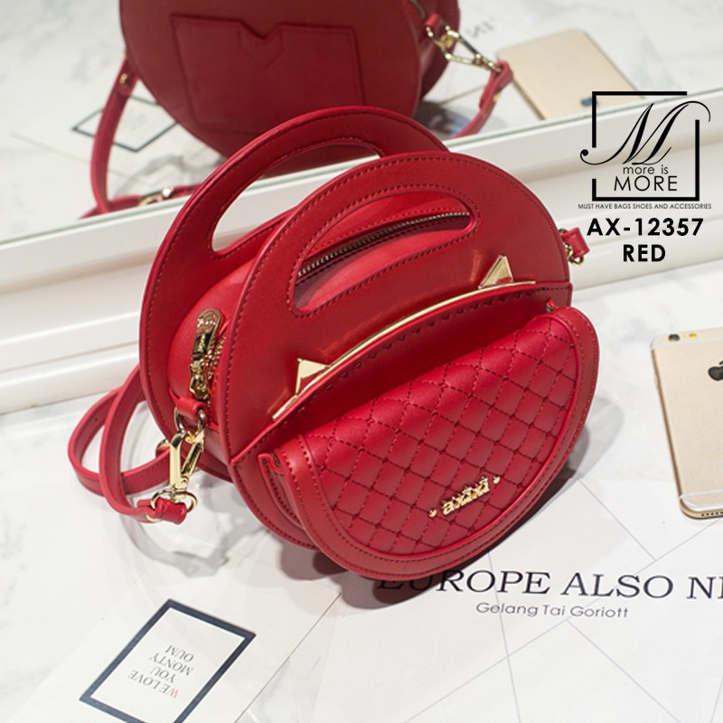 กระเป๋าสะพายกระเป๋าถือ แฟชั่นนำเข้าดีไซน์สุดเก๋ส์ AX-12357-RED (สีแดง)