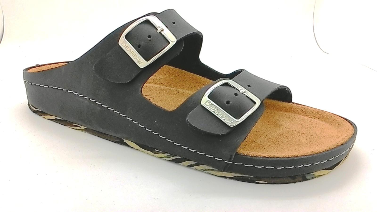 Cork sole leather sandals(men)
