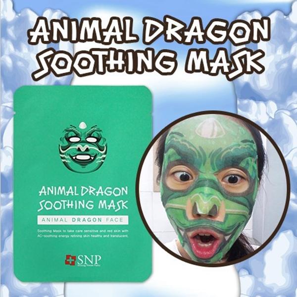 แผ่นมาร์กหน้าลายสัตว์ SNP ANIMAL MASK ( Dragon Soothing Mask) 1กล่องมี 10แผ่น