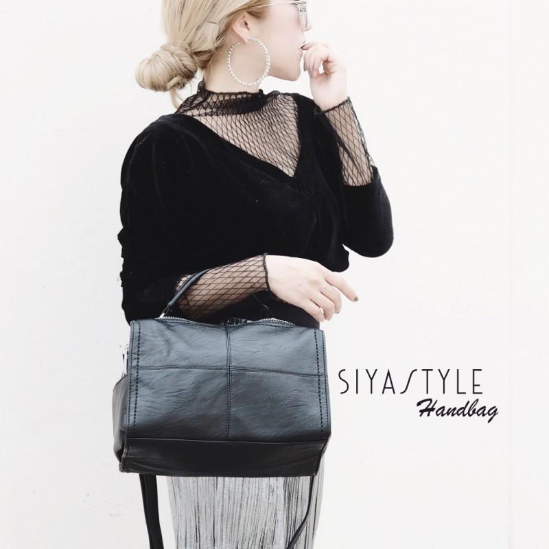 กระเป๋าสะพายแฟชั่น กระเป๋าสะพายข้างผู้หญิง Glow [สีดำ]
