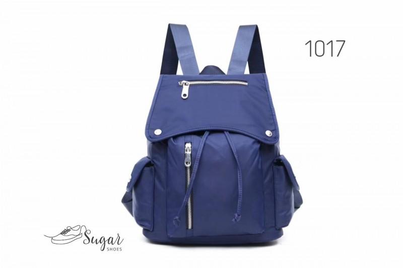 พร้อมส่ง กระเป๋าเป้ผู้หญิงสไตล์ญี่ปุ่น-1017 [สีน้ำเงิน]