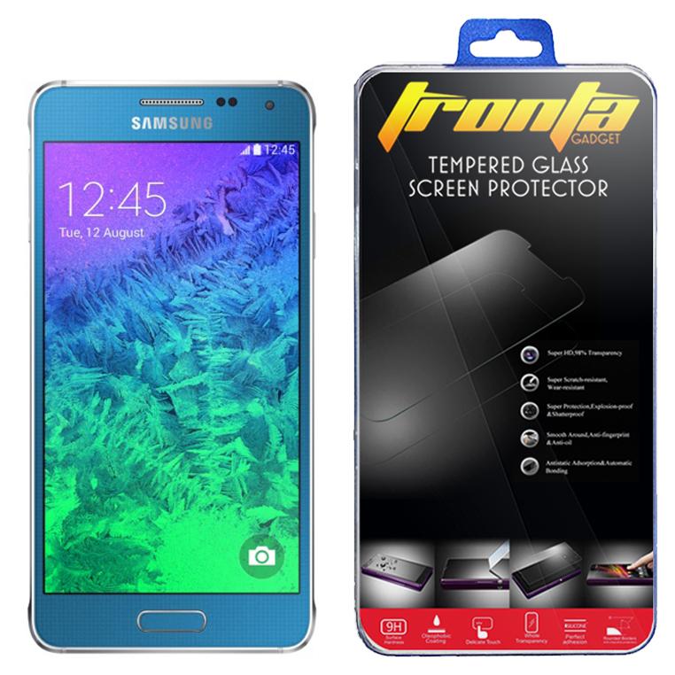 ฟิล์มกันรอยกระจก Samsung Alpha G850 ไม่เต็มจอ (Tronta แท้ 100%)