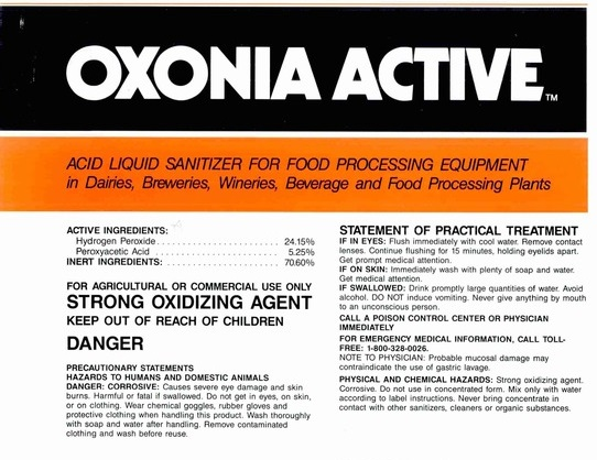 Ecolab - Oxonia Active Sanitizer 200ml