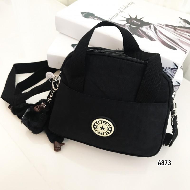 กระเป๋าสะพายข้างแฟชั่น วัสดุผ้าร่ม Style Kipling [สีดำ ]