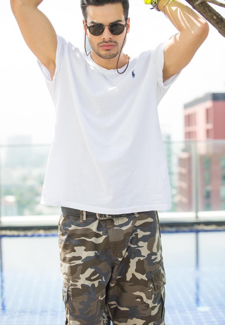 Urban Brown Camo Cargo Shorts for Men - size 32