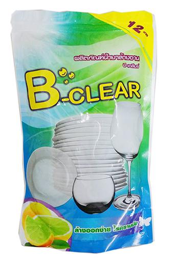 B-Clear น้ำยาล้างจานบรรจุถุง 400 มล.( แพ็ค 3 ถุงแถมฟองน้ำล้างจาน 1ชิ้น รวมแพ็คใหญ่จำนวน 12 แพ็ค/ลัง