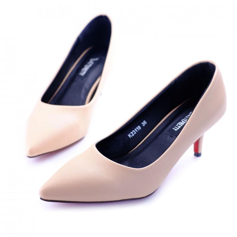 พร้อมส่ง รองเท้าคัชชูสไตล์สาวออฟฟิศ K23119C3-CREAM [สีครีม]