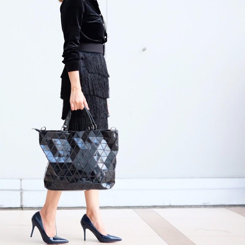 กระเป๋าสะพายแฟชั่น กระเป๋าสะพายข้างผู้หญิง Bao Bao Baral Nologo [สีดำ]