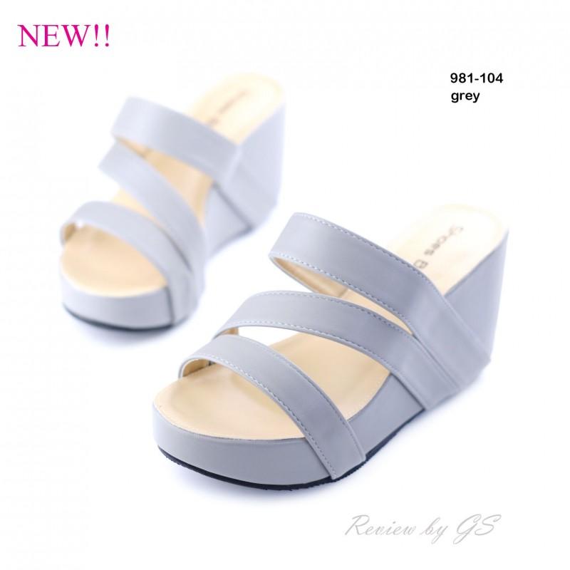 พร้อมส่ง รองเท้าลำลอง แบบสวม 981-104C3-GRY [สีเทา]