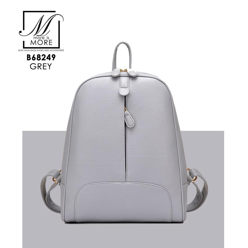 กระเป๋าสะพายเป้กระเป๋าถือ เป้แฟชั่นนำเข้าดีไซน์เก๋ส์ B68249-GRY (สีเทา)