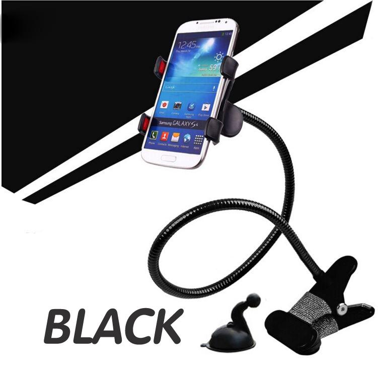 ที่หนีบ/ยึด มือถือ SmartPhone สีดำ (แถมฟรีที่ติดกระจกในรถ)