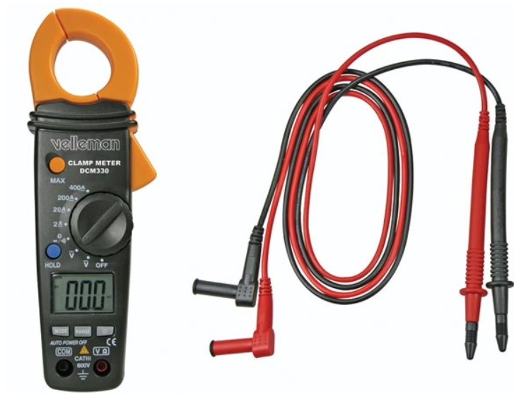 แคลมป์มิเตอร์ Velleman รุ่น DCM330 DIGITAL CLAMP MULTIMETER WITH DATA-HOLD FUNCTION AND BACKLIGHT
