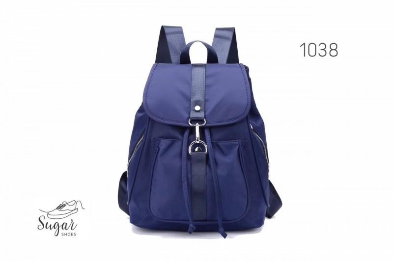 พร้อมส่ง กระเป๋าเป้ผู้หญิงผ้าไนล่อน-1038 [สีน้ำเงิน]