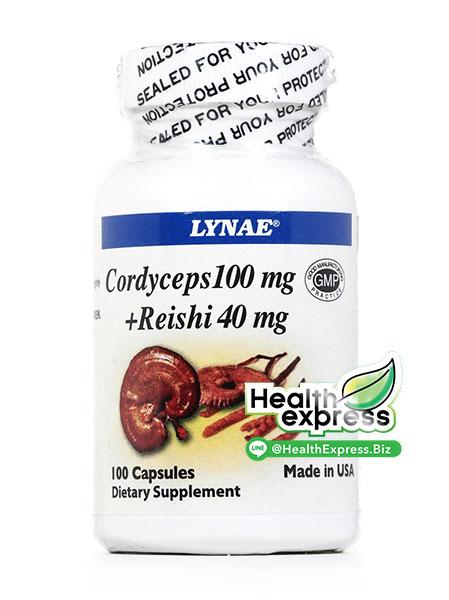 Lynae Cordyceps + Reishi ไลเน่ ถั่งเช่า + หลินจือ บรรจุ 100 แคปซูล