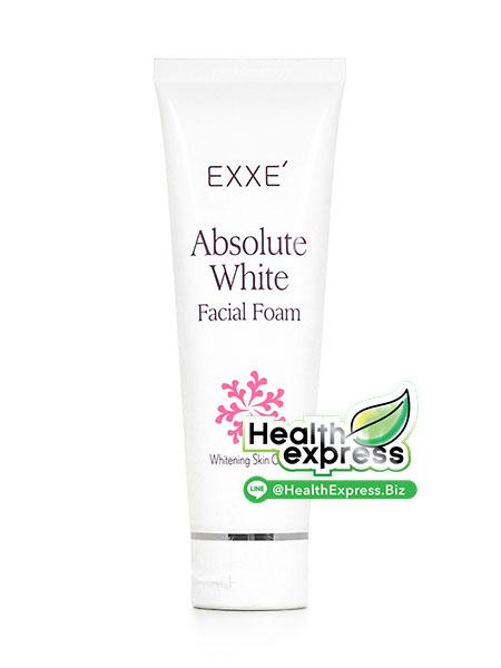 Exxe Absolute White Facial Foam เอ็กซ์เซ่ แอลโซลูท ไวท์ เฟเชียล โฟม ปริมาณสุทธิ 100 g.