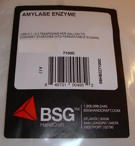 BSG - Amylase Enzyme Formula (4oz) - Resealable Zip Lock Foil Pack