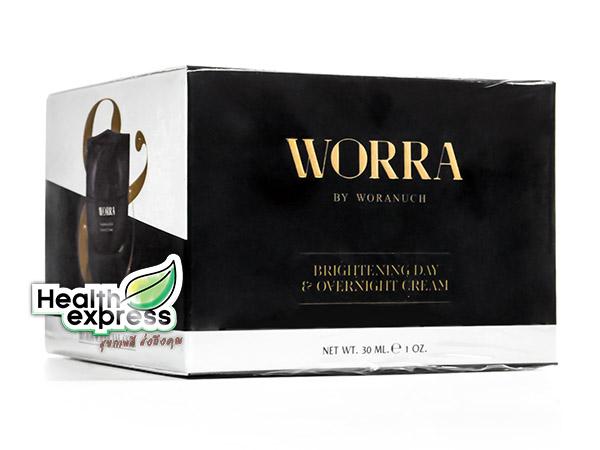 Worra Brightening Day & Overnight Cream วอร์ร่า ไบรท์เทนนิ่ง เดย์ แอนด์ โอเวอร์ไนท์ ครีม ปริมาณสุทธิ 35 ml.