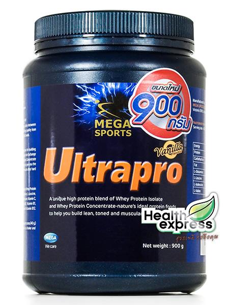 Mega We Care Ultrapro Whey Protein เมก้า วีแคร์ อัลตร้าโปร เวย์โปรตีน (กลิ่นวนิลลา) ปริมาณสุทธิ 900 g.