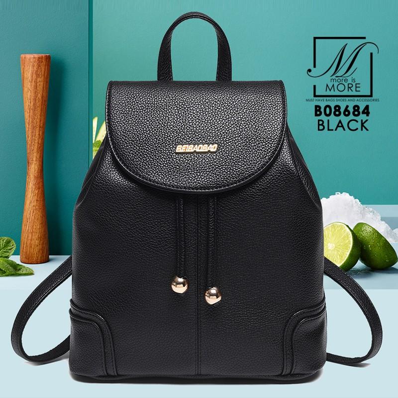 กระเป๋าสะพายเป้กระเป๋าถือ เป้แฟชั่นนำเข้า B08684-BLK (สีดำ)