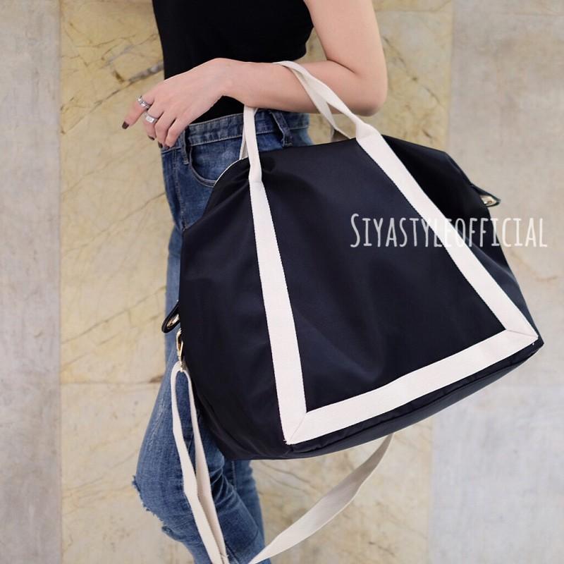 พร้อมส่ง กระเป๋าสะพายข้างผู้หญิง Shopping bag [สีดำ]