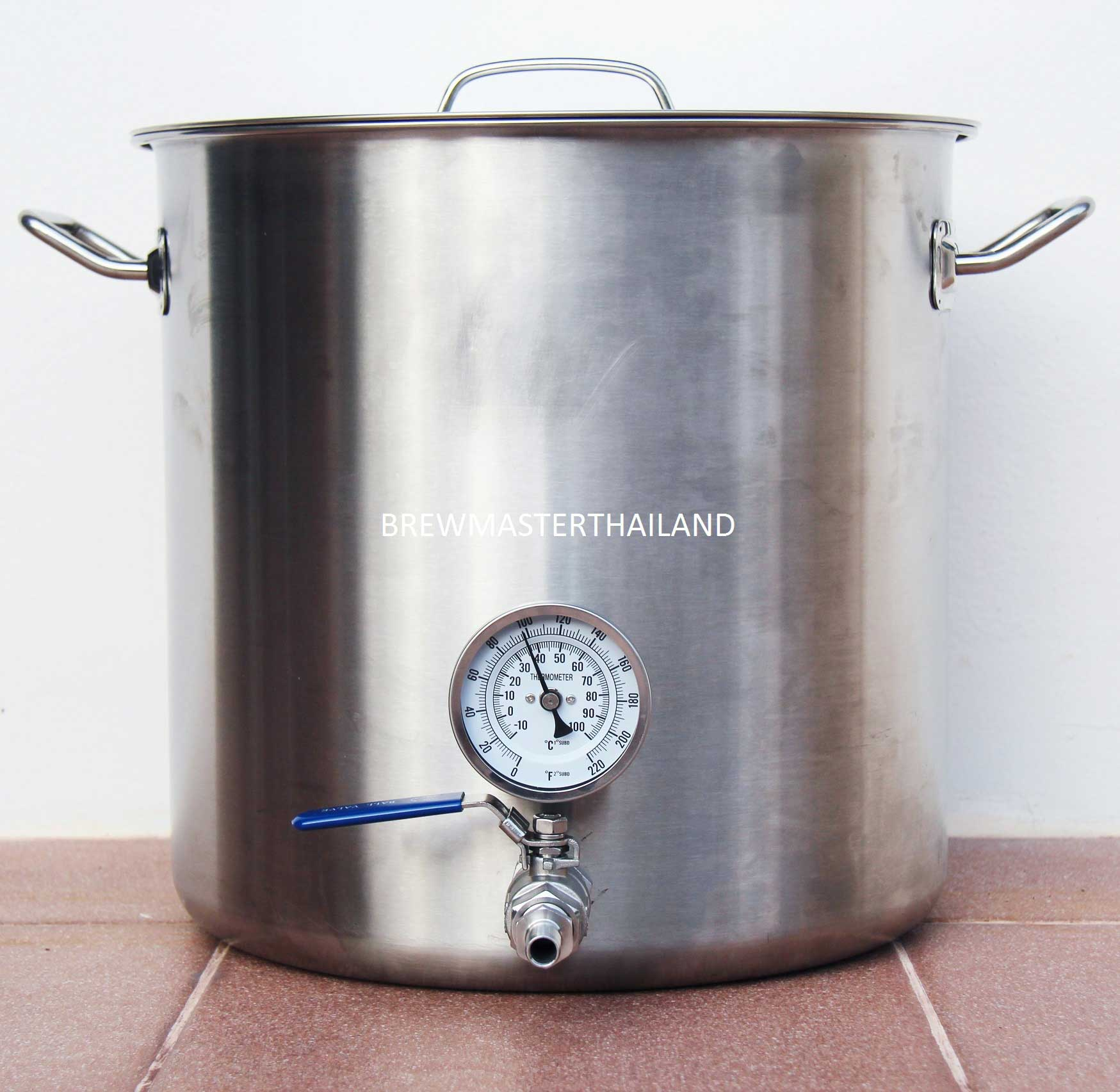 Brew Kettle - 9 gal with Valve and built-in Thermometer