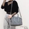 กระเป๋าสะพายแฟชั่น กระเป๋าสะพายข้างผู้หญิง BaoBao-Logo-Robot [สีเทาด้าน ]