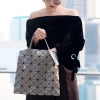 กระเป๋าสะพายแฟชั่น กระเปาสะพายข้างผู้หญิง ISSEY MIYAKE BAO BAO 6x6 (no logo) [สีน้ำตาล ]