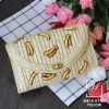 กระเป๋าสะพายกระเป๋าถือกระเป๋าสาน แฟชั่นนำเข้างานสาน hand made MB18-01101-YEL (สีเหลือง)