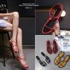 รองเท้าแตะผู้หญิงรัดส้นสีแดง Celine sandals LB-C55-1-RED