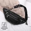 กระเป๋าสะพายกระเป๋าคาดอก แฟชั่นงานนำเข้าแบบคาดสไตล์สุดฮิต MB18-01203-BLK (สีดำ)