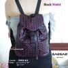 กระเป๋าเป้ผู้หญิง กระเป๋าสะพายหลังแฟชั่น Style ISSEY MIYAKE BAO BAO [สีม่วง ]
