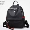 พร้อมส่ง กระเป๋าเป้ไนล่อน-BAG-017 [สีดำ/แดง]