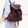กระเป๋าเป้ผู้หญิง กระเป๋าสะพายหลังแฟชั่น BAO BAO เป้ (No logo) [สีแดงเข้ม]
