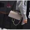 กระเป๋าสะพายแฟชั่น กระเป๋าสะพายข้างผู้หญิง วัสดุหนังPU 2 tone สไตล์เกาหลี [สีเทา ]