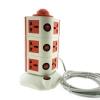 รางปลั๊กคอนโด 3ชั้น REMAX แท้ คุณภาพเยี่ยม (สีส้มแดง-ขาว)