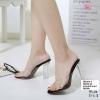 พร้อมส่ง รองเท้าแฟชั่นส้นแก้วแบบสวม 816-3-BLK [สีดำ]