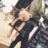กระเป๋าสะพายแฟชั่น สะพายไหล่ ตุ๊กตาหมี [สีดำ ]