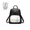 กระเป๋าสะพายเป้กระเป๋าถือ เป้แฟชั่นนำเข้าแบรนด์ BEIBAOBAO ดีไซน์น่ารัก B32045-BLK (สีดำ)