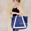 พร้อมส่ง กระเป๋าสะพายข้างผู้หญิง Shopping bag [สีน้ำเงินเข้ม]